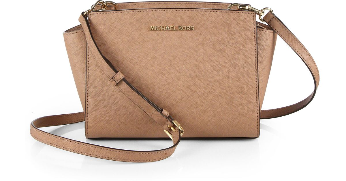 b3e5c0ccba ... where can i buy lyst michael michael kors selma medium leather shoulder  bag in pink 906af