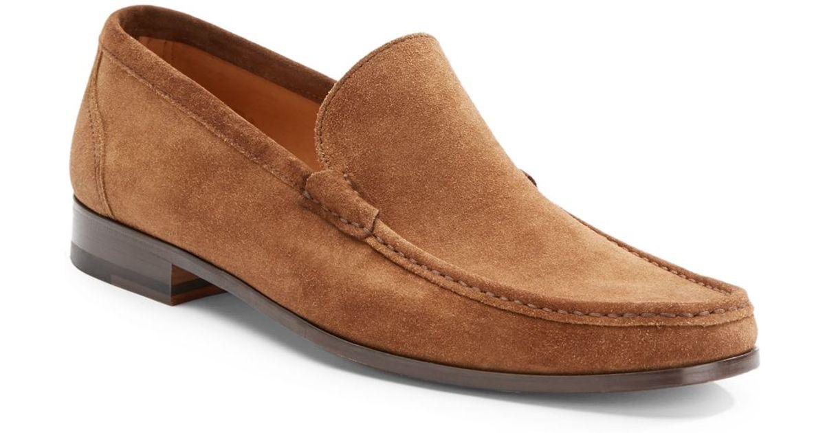 2f9678fbdc3 Lyst - Saks Fifth Avenue Black Label Suede Venetian Loafer in Brown for Men
