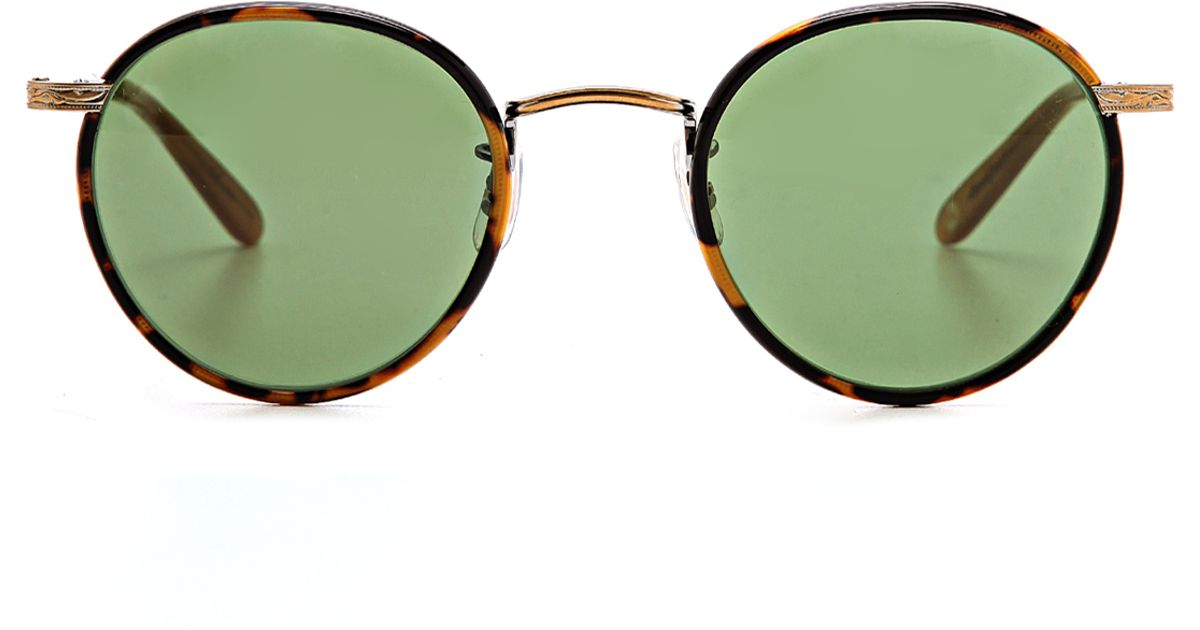 d7aeeca3b6b Lyst - Garrett Leight Wilson Sunglasses in Green for Men
