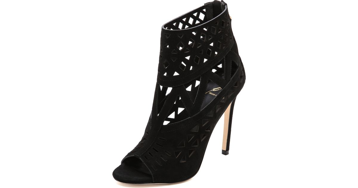 outlet sast cheap outlet Brian Atwood Peep-Toe Cutout Booties IR40qBiyK