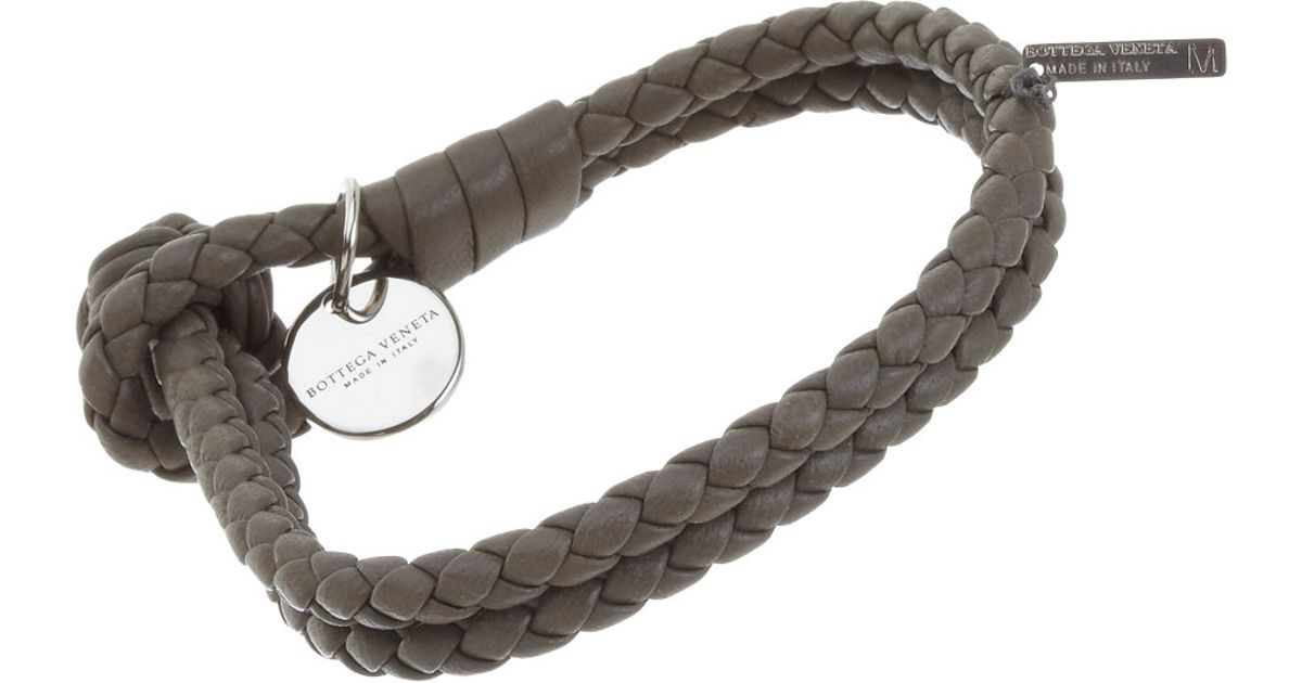 wrap black double intrecciato bracelet bottega leather product row veneta