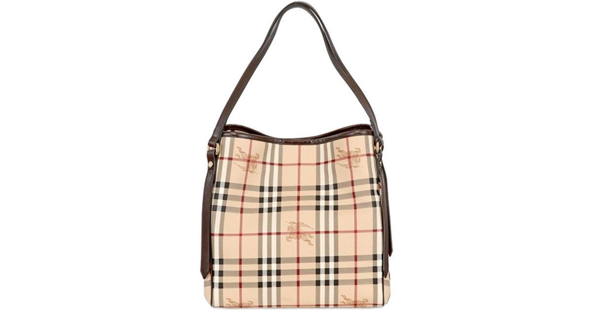 Burberry Small Canterbury Haymarket Pvc Bag in Natural - Lyst 1eb6a1bd178b7