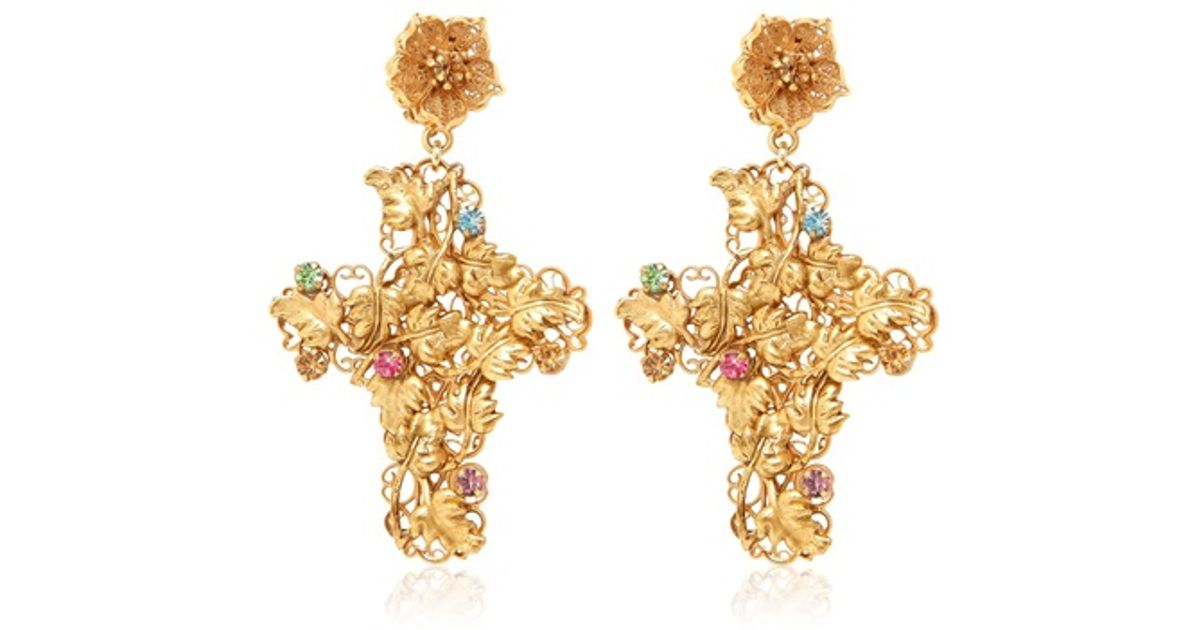 liked earrings gabbana on jewelry and pin rose crown dolce featuring polyvore