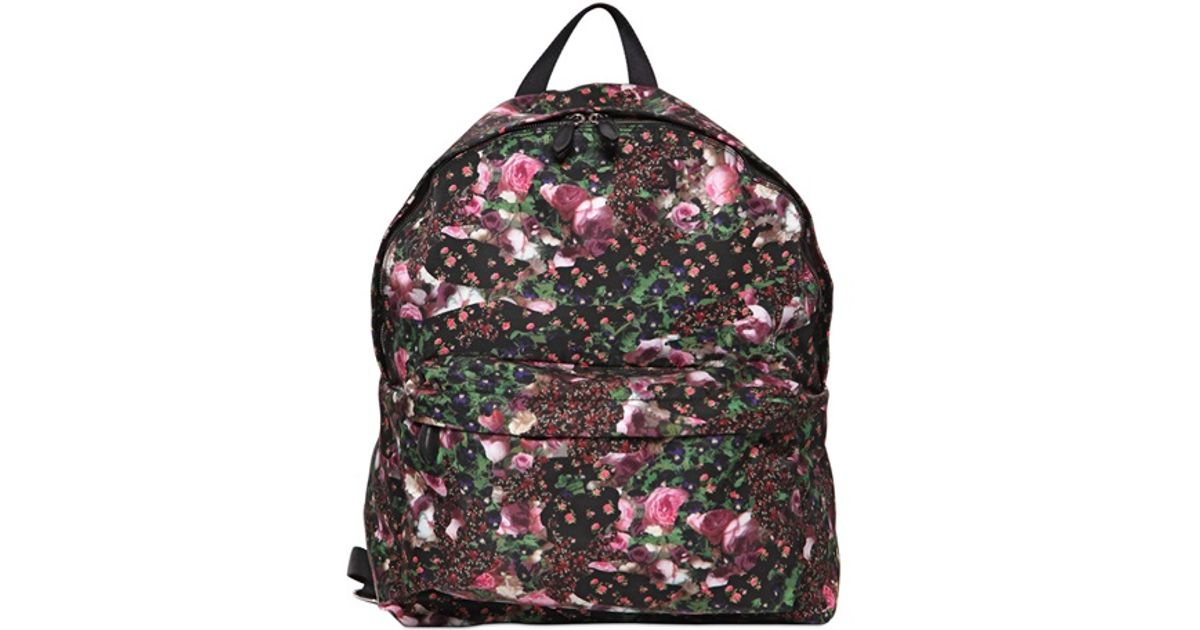 15a0b6447cf Lyst - Givenchy Nylon Floral Backpack in Pink for Men
