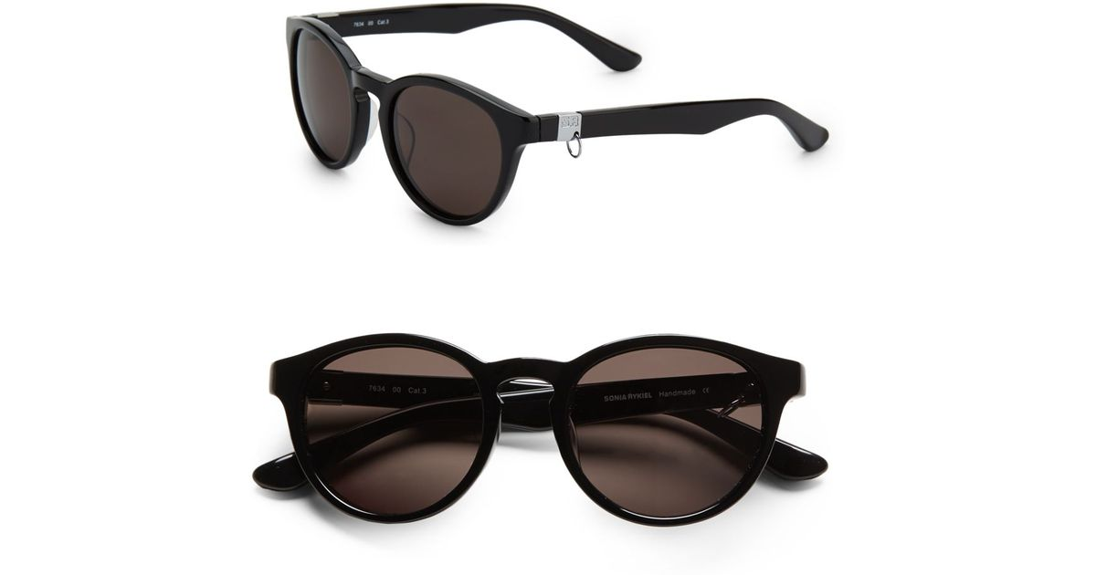 7be517b90c3fa Sonia Rykiel Rounded Catseye Acetate Sunglasses in Black - Lyst