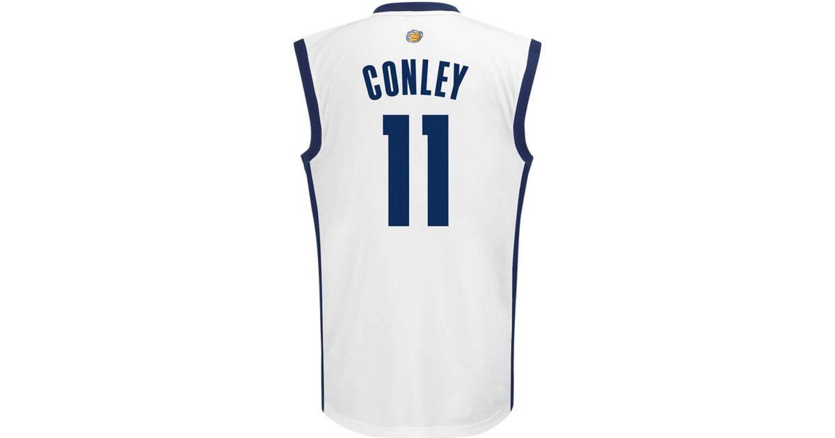 promo code 352bd 46a70 Adidas - White Mens Mike Conley Memphis Grizzlies Replica Jersey for Men -  Lyst