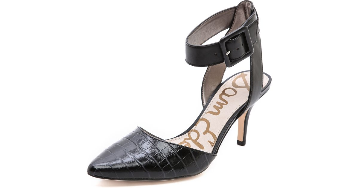 58ecf9357ef9 Lyst - Sam Edelman Okala Kitten Heel Pumps in Black