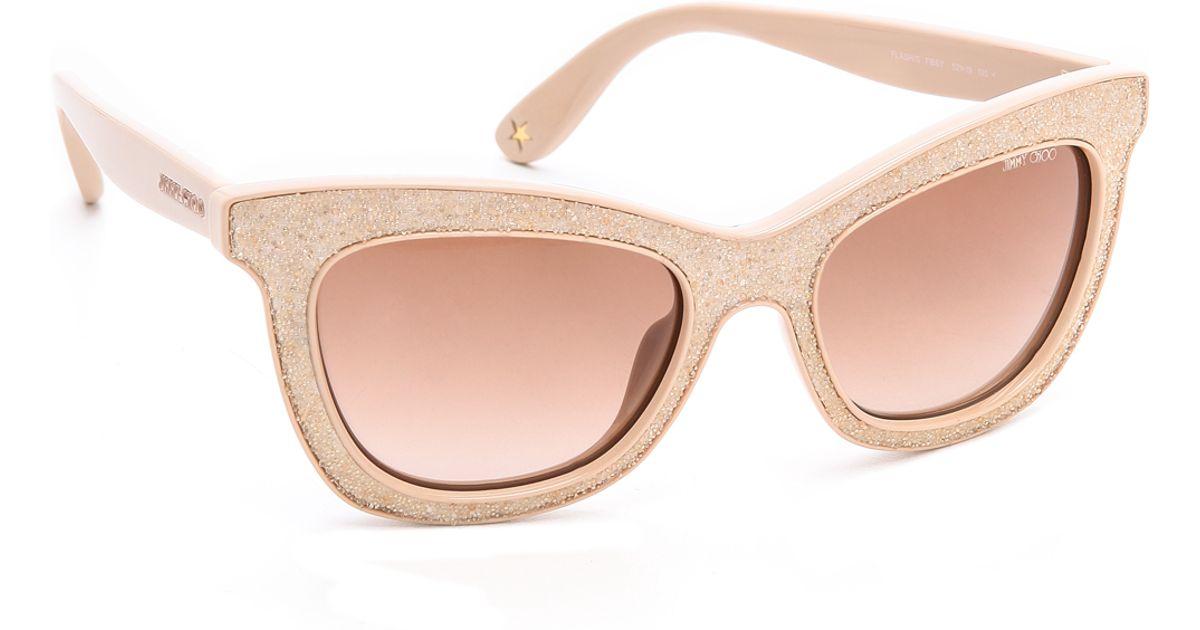 d787c9fb919 Lyst - Jimmy Choo Flash Sunglasses in Natural