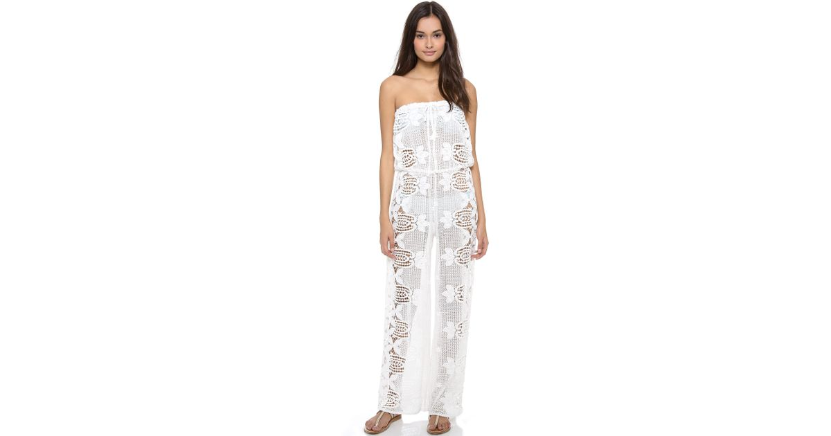 2cf5eb0d997d Lyst - Miguelina Piper Jumpsuit in White