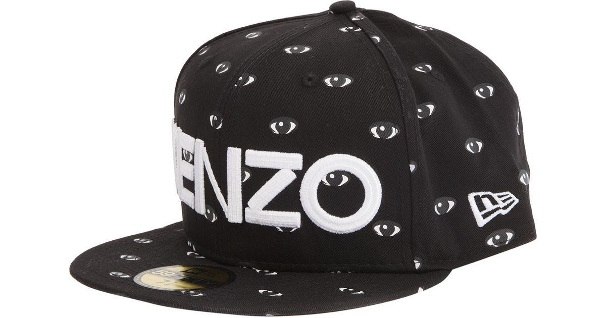 Lyst - KENZO Eye Print Logo Cap in Black for Men ebdb913ed49