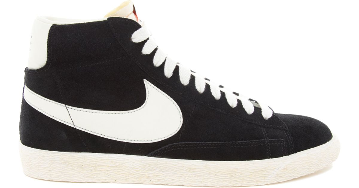 c53e21e28cde ... where can i buy lyst nike blazer hi vintage suede sneakers in black for  men a36f9