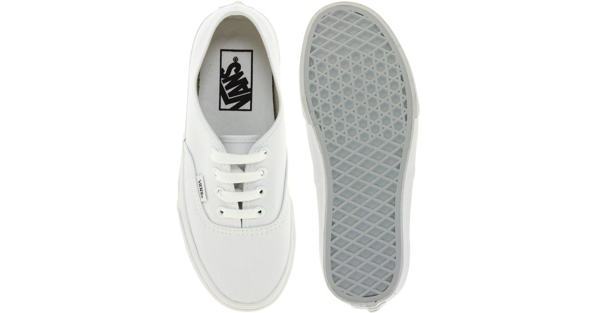 19d0ed309a0 Lyst - Vans Authentic Classic White Lace Up Trainers in White