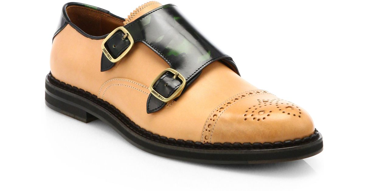 77d8354337a Jimmy Choo Williams Monk Strap Dress Shoes in Brown for Men - Lyst