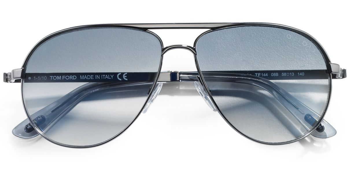 a1068a5526d50 Lyst - Tom Ford Marko Aviator Sunglasses in Metallic for Men