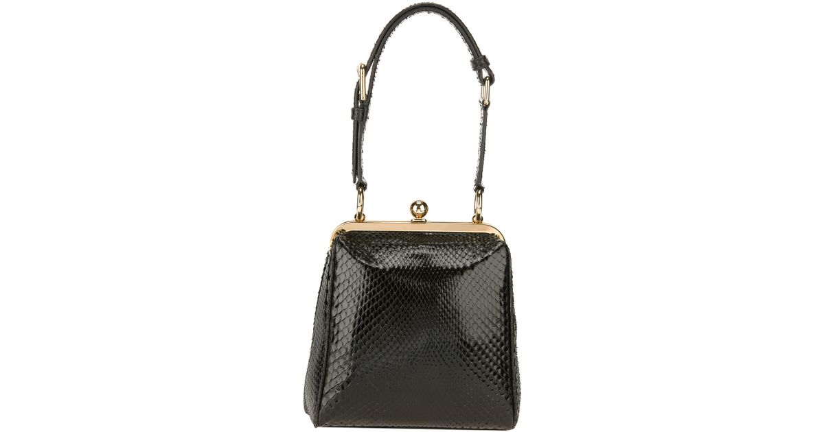 eed0563223 Lyst - Dolce   Gabbana Agata Ayers Trim Shoulder Bag in Black