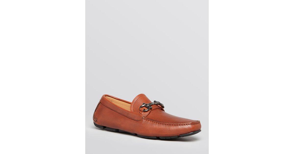 49d42c2ef0c Lyst - Ferragamo Parigi Bit Leather Driving Loafers in Brown for Men