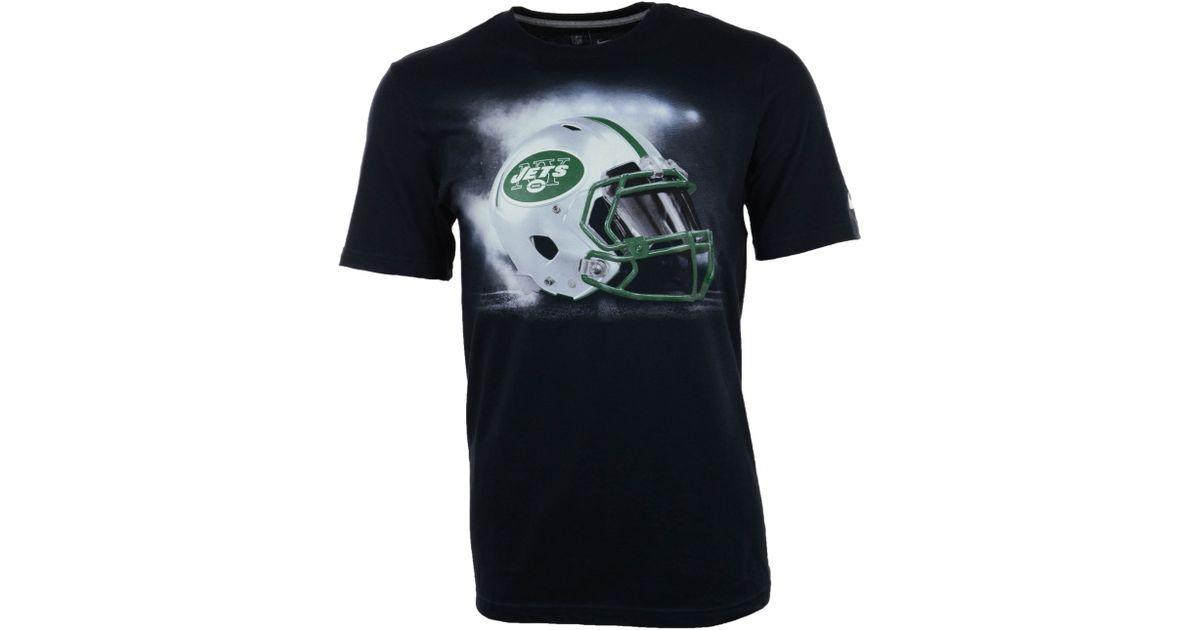 Nike Men's New York Jets Vapor Helmet Graphic T-shirt in Black for ...