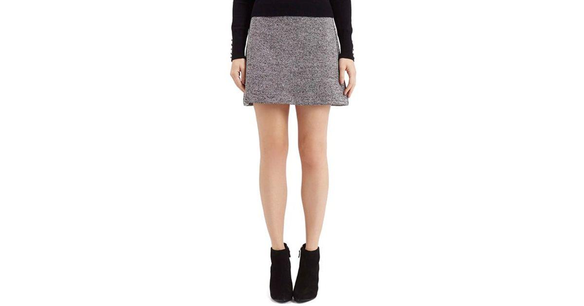 Topshop Herringbone A-line Miniskirt in Gray | Lyst