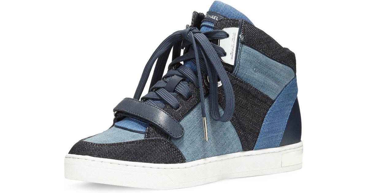 25640997cee3 MICHAEL Michael Kors Ollie Denim High-top Sneaker in Blue - Lyst