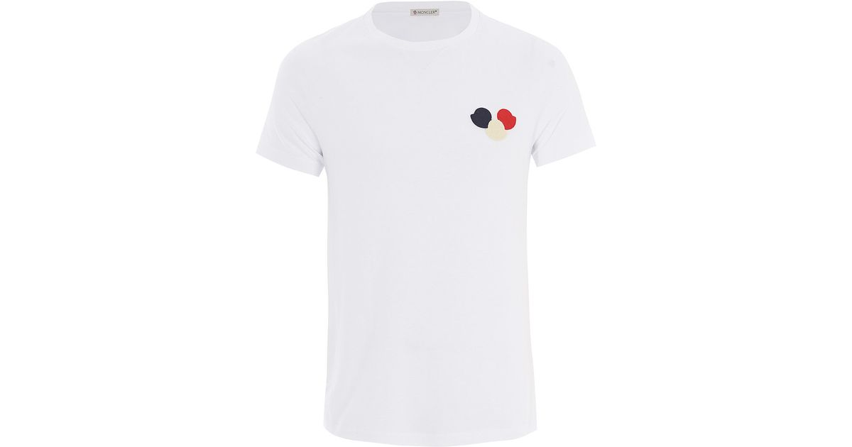 Moncler logo patch T-shirt Clearance Clearance Outlet Pay With Visa Buy Cheap Excellent dJZULa