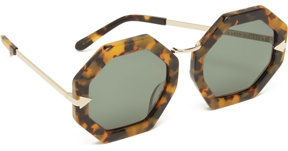 9a3ba935f593 Lyst - Karen Walker Moon Disco Sunglasses in Brown