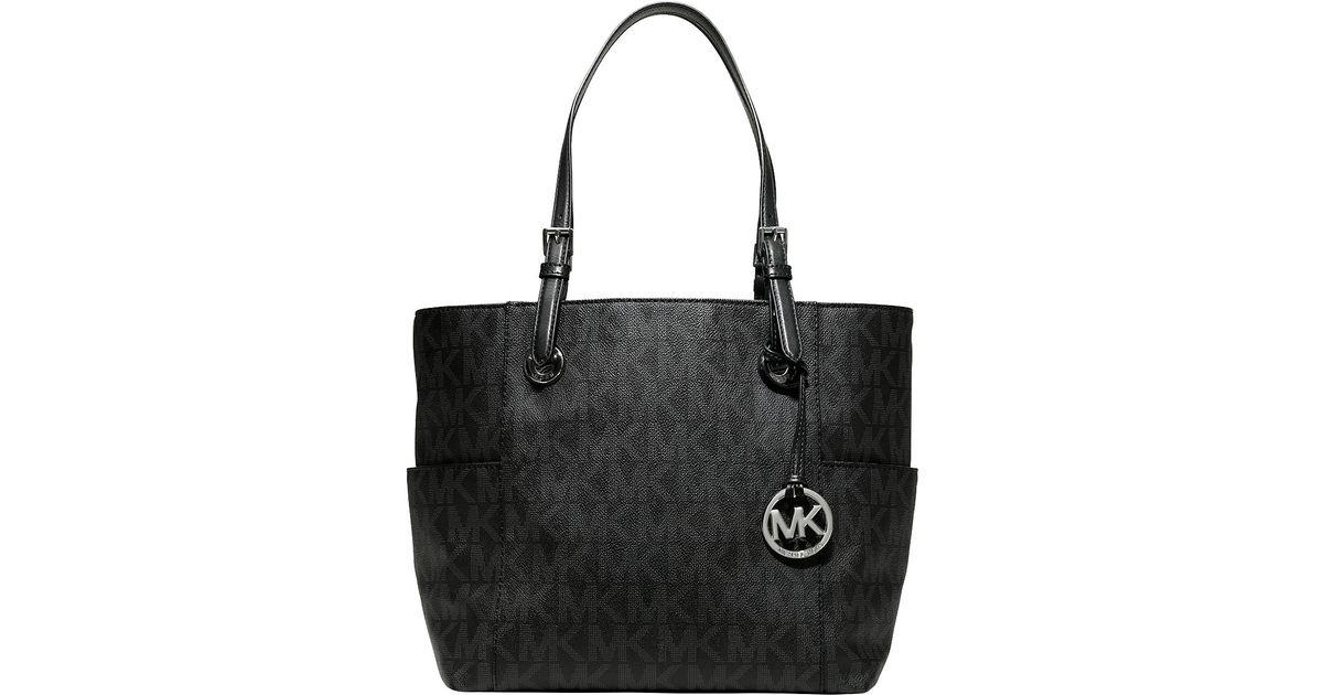 Michael Michael Kors Logo Print East west Tote Bag in Black - Lyst c23bf720be