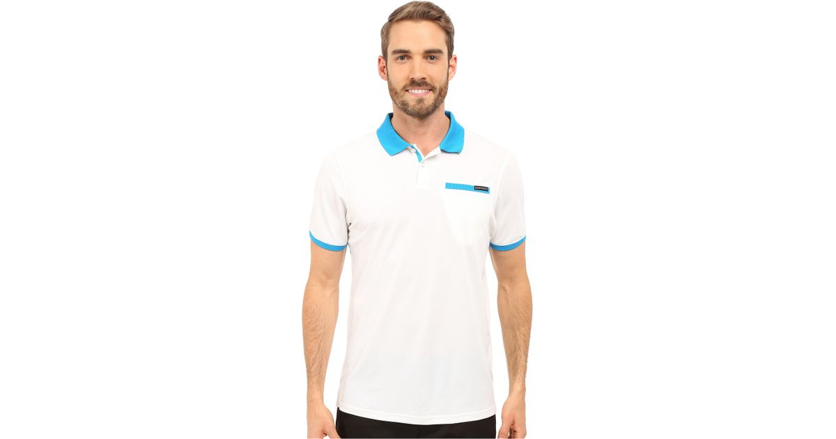 oakley myers polo in white for lyst