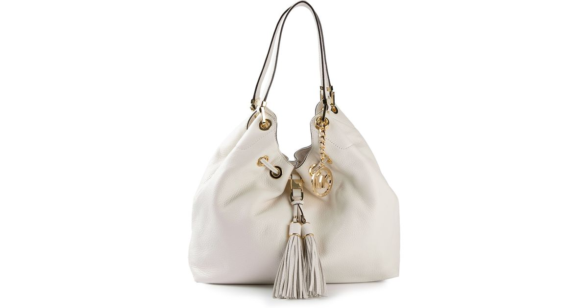 b30a90d1bd90 MICHAEL Michael Kors Large Camden Shoulder Tote in White - Lyst