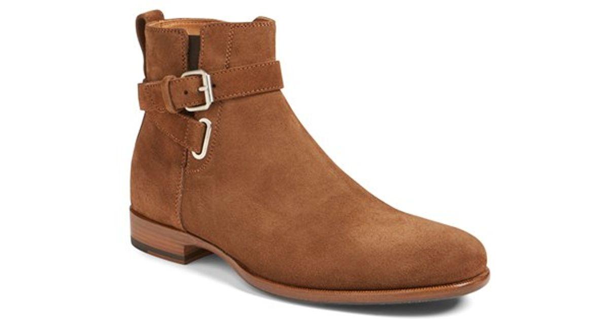 aquatalia kenneth weatherproof zip boot in brown for