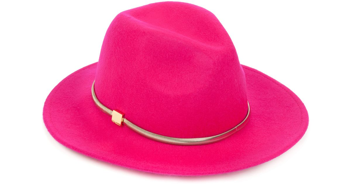 Lyst - Ted Baker Felt Fedora in Pink bb1bd28a31c