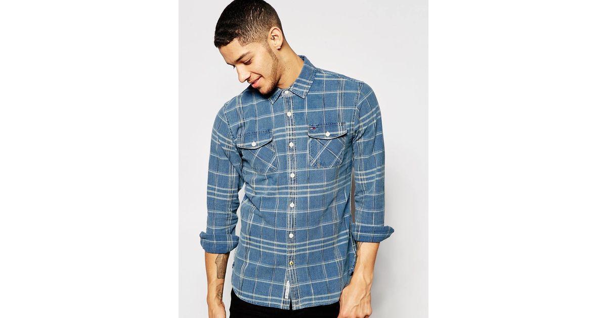 4ce1602d5 Tommy Hilfiger Hilfiger Denim Norwich Check Shirt in Blue for Men - Lyst