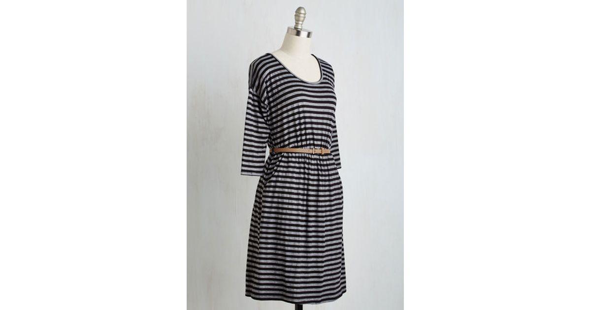 6d05b28534 Lyst - Gilli Fab Fundamentals Dress In Stripes in Black