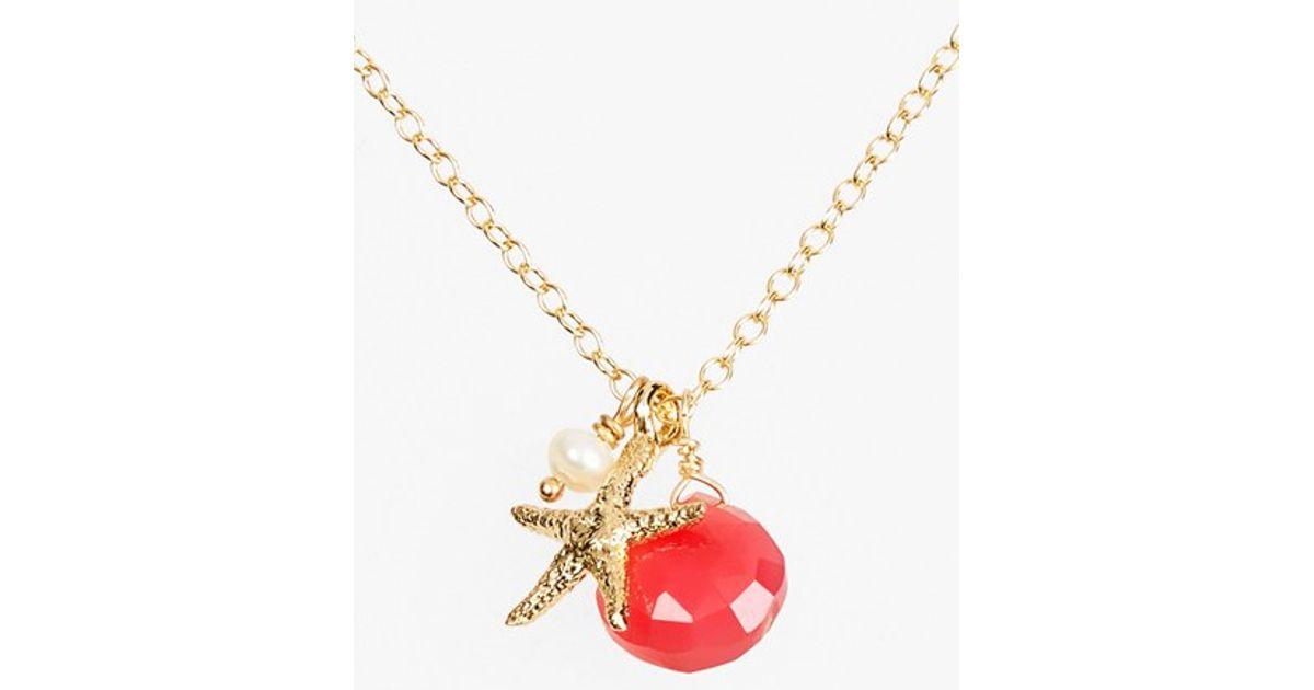 ki ele sea cluster pendant necklace sapphire in