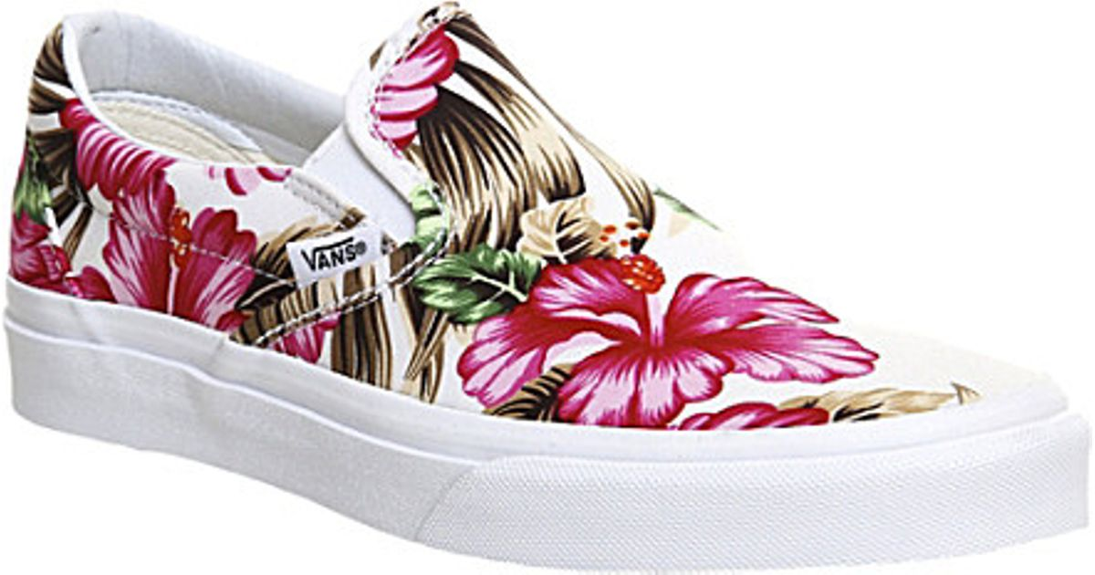 c5aad7b240 Vans Classic Hawaiian-print Slip-on Trainers - For Women - Lyst