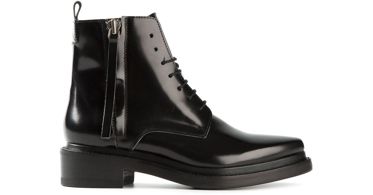 4786aa57f91a Acne Studios Linden Ankle Boots in Black - Lyst