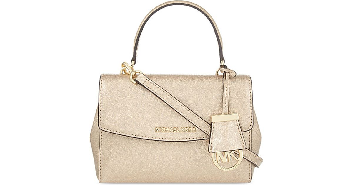 63ddbe48e257 MICHAEL Michael Kors Ava Leather Xs Cross-body Bag in Natural - Lyst