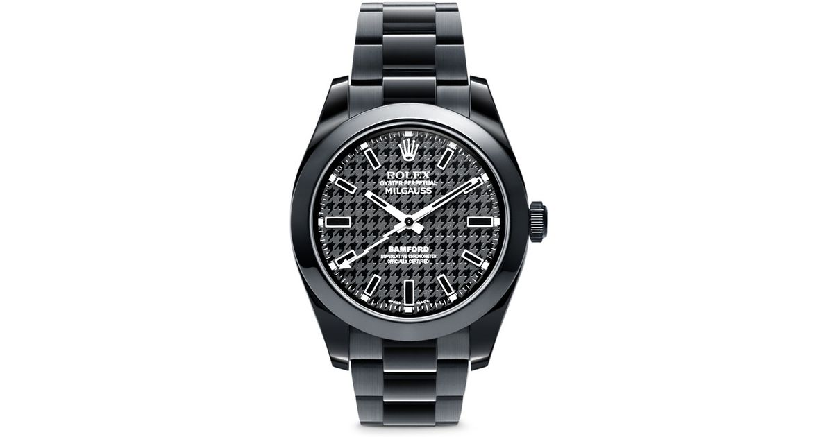 3676e24ceb8 Lyst - Bamford Watch Department Rolex Milgauss Oyster Perpetual Watch -  Houndstooth in Black