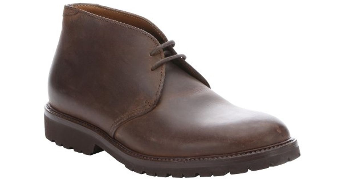 brunello cucinelli brown distressed leather lace up chukka