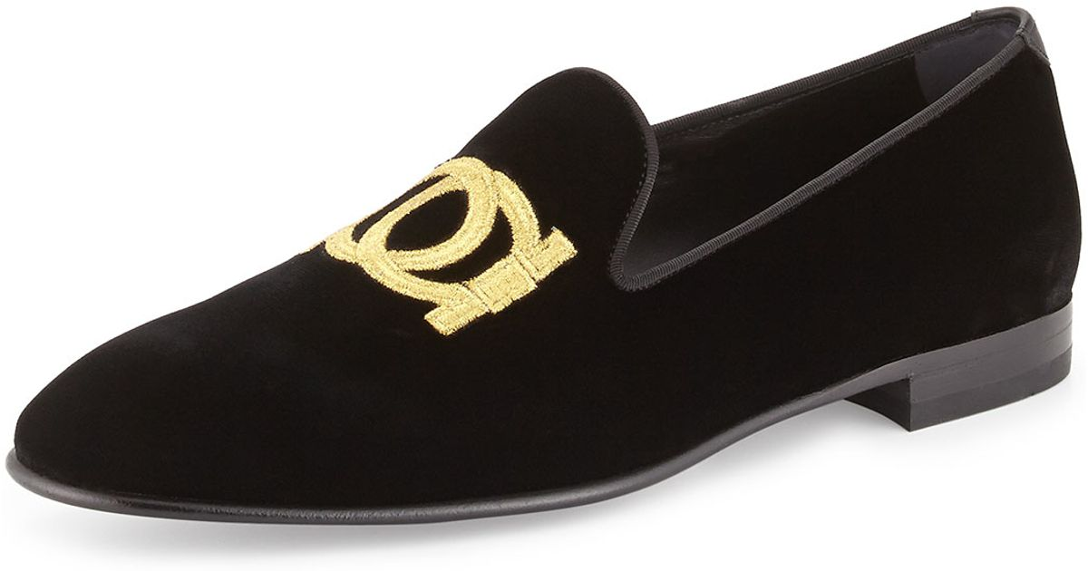 Velvet Slip On Shoes Mens