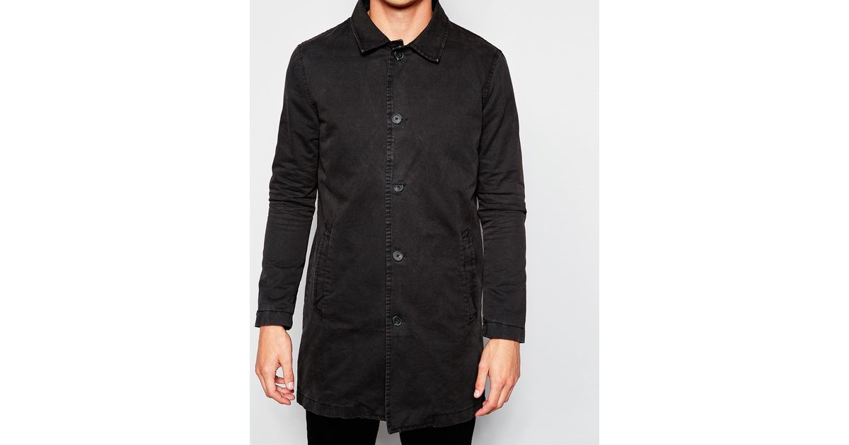 e35fb7a652e3 Lyst - Zee Gee Why Trench Coat Thrasher Setting Suns in Black for Men