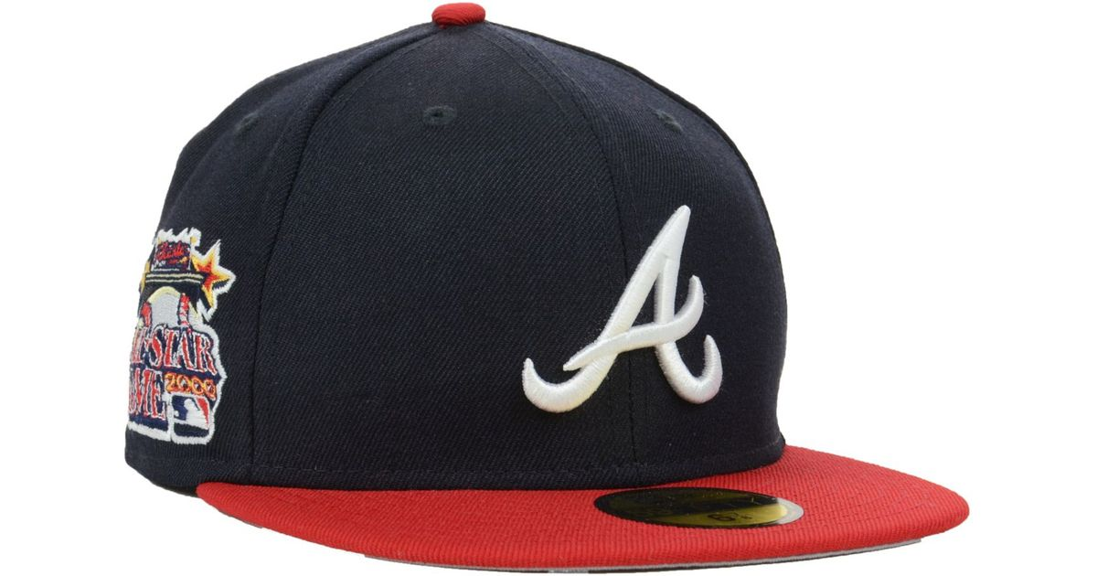 online store 8ee49 c97d6 KTZ Atlanta Braves All Star Patch Redux 59fifty Cap in Blue for Men - Lyst
