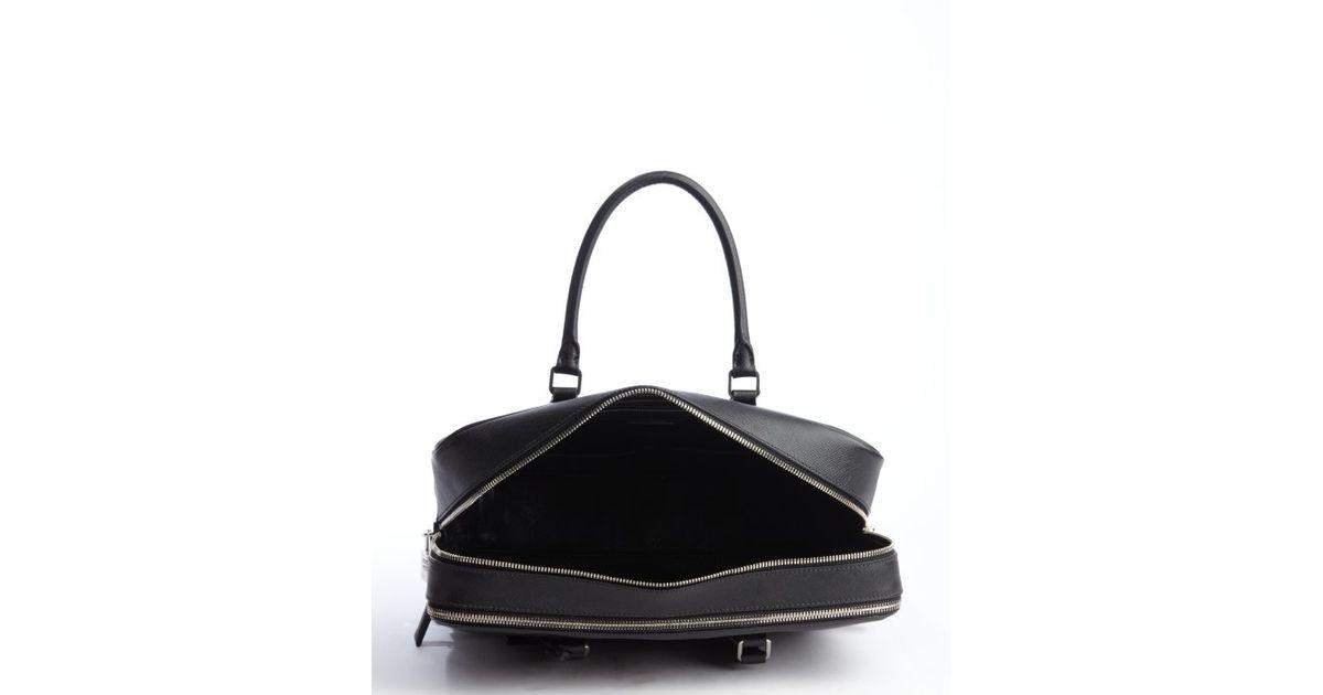prada white leather travel bag