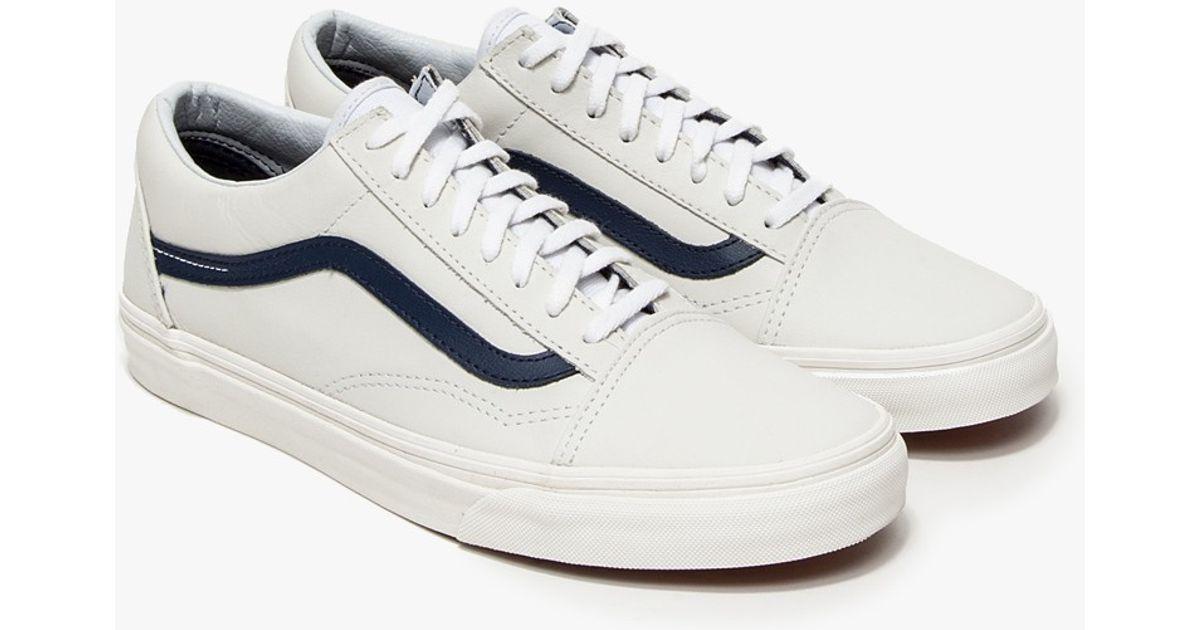 vans old skool leather white