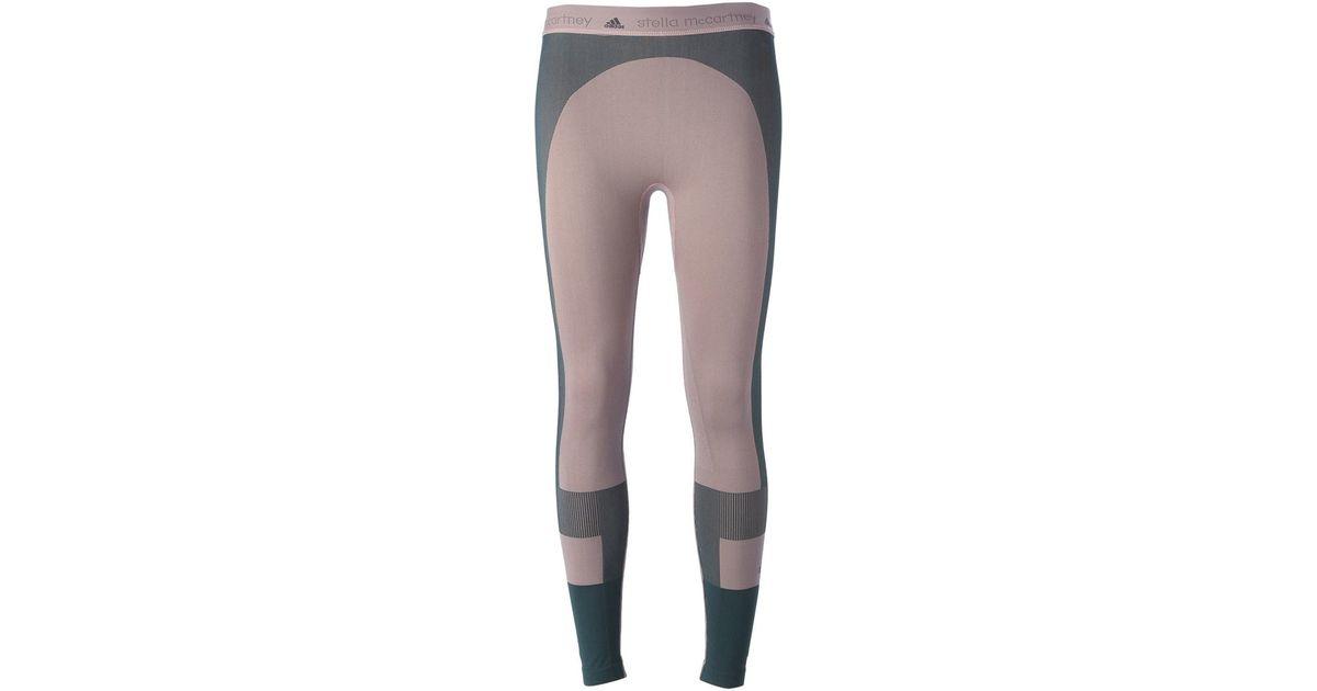 4be39b3b616fb adidas By Stella McCartney Seamless Yoga Leggings in Natural - Lyst
