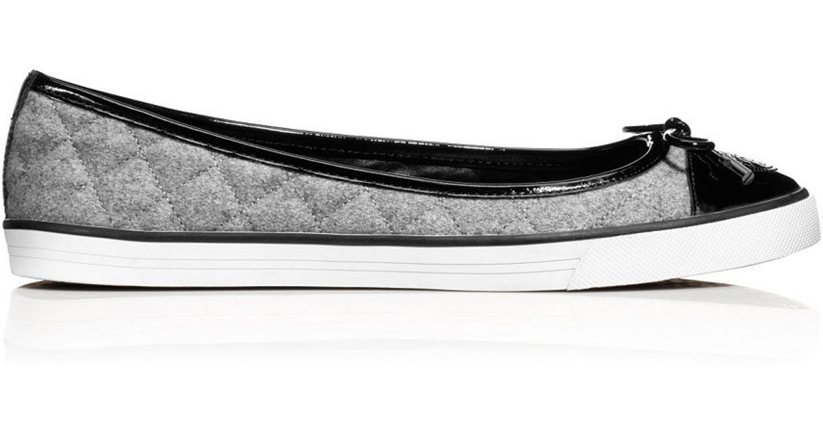 e53bfdbe5a5f Lyst - Tory Burch Skyler Flannel Sneaker in Gray