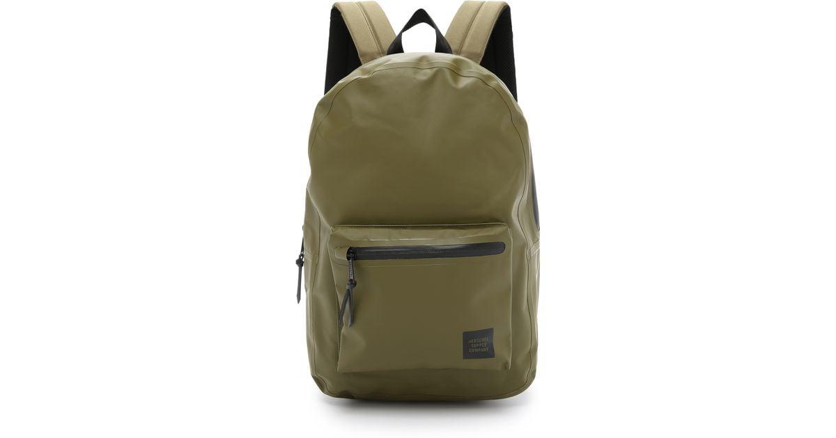 8e65357da99 Herschel Supply Co. Studio Settlement Tarpaulin Backpack in Green for Men -  Lyst