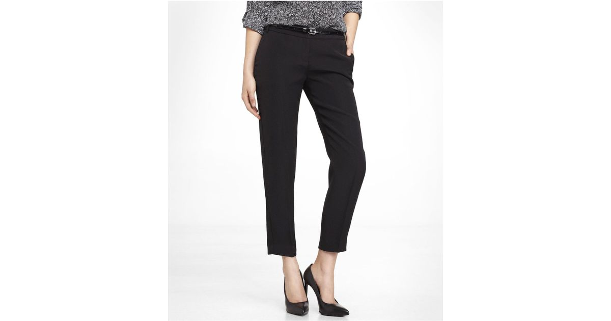 946929949a5 Lyst - Express Editor Ankle Pant in Black