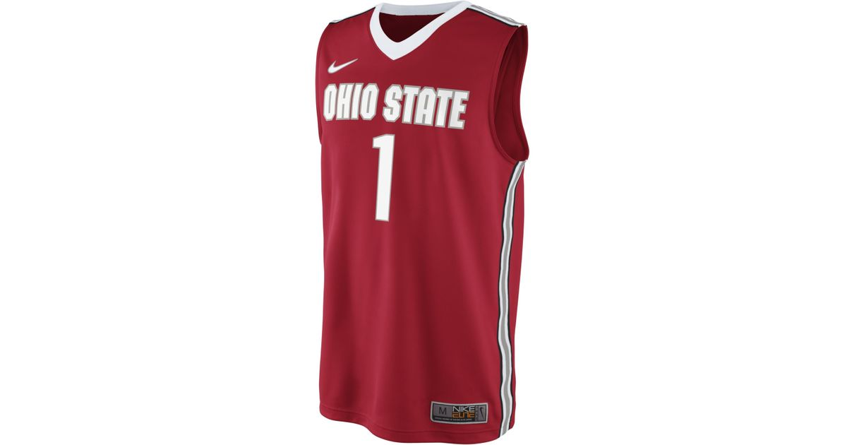 84f286cf2768 Lyst - Nike Men S Ohio State Buckeyes Basketball Jersey in Red for Men