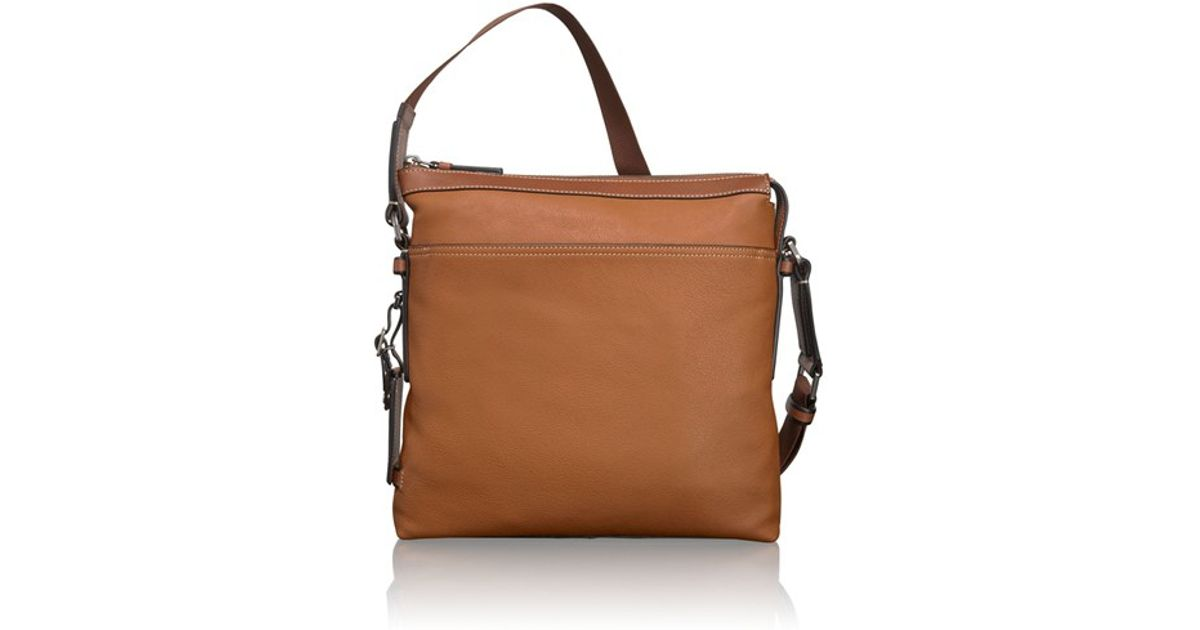 best place timeless design big clearance sale Tumi Brown 'mission - Bartlett' Leather Crossbody Bag for men