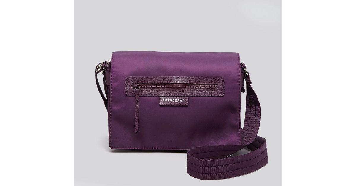 3ffb0090a6faa Lyst - Longchamp Messenger - Le Pliage Neo in Purple